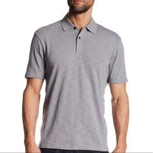 Vince Short Sleeve Polo Gray sz M